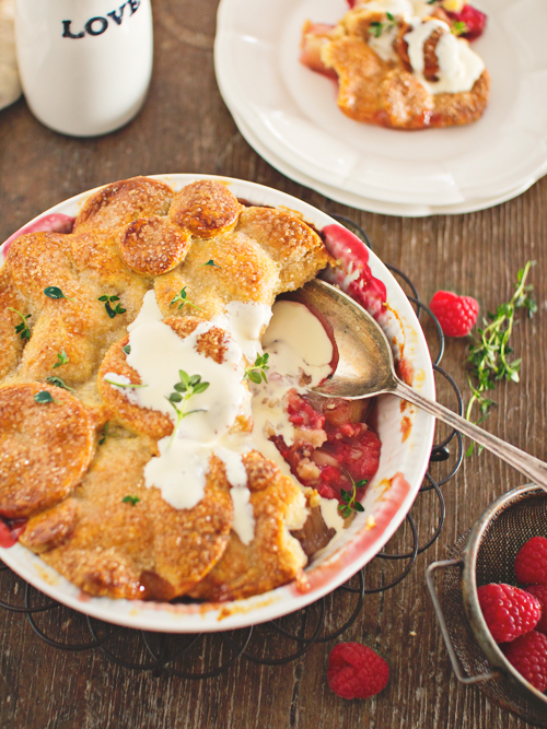 nectarine, raspberry & chambord pie