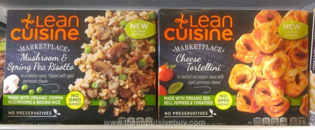 Lean Cuisine Marketplace Mushroom & Spring Pea Risotto and Cheese Tortellini