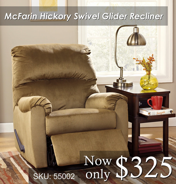 McFarin Hickory new Glider Recliner