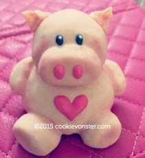 3D Mini Piggy cookie © Cookievonster.com