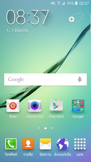 Home screen ของ Samsung Galaxy S6 edge