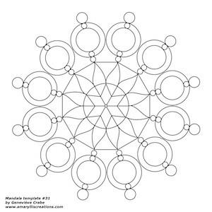 Mandala template 031