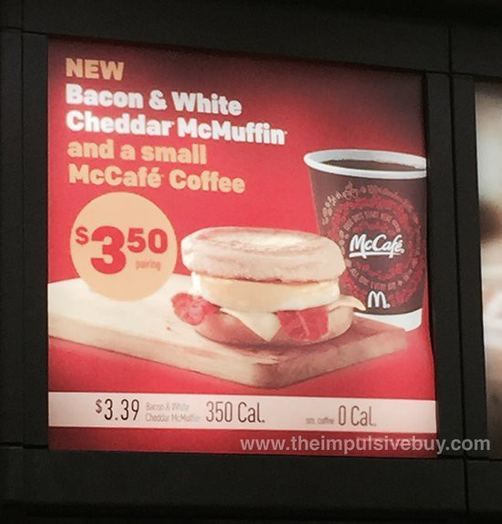 McDonald's Bacon & White Cheddar McMuffin
