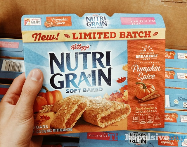 Limited Batch Kellogg's Nutrigrain Pumpkin Spice Soft Baked Breakfast Bars