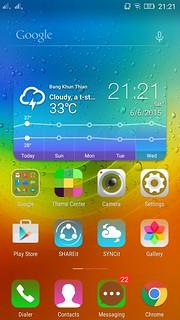 Home screen ของ Lenovo A7000