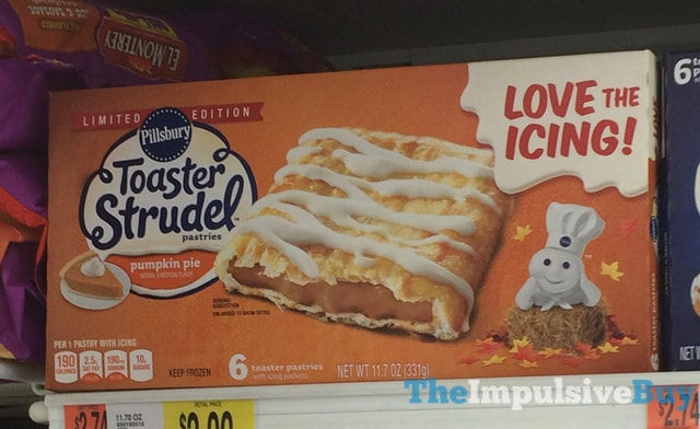 Limited Edition Pillsbury Pumpkin Pie Toaster Strudel