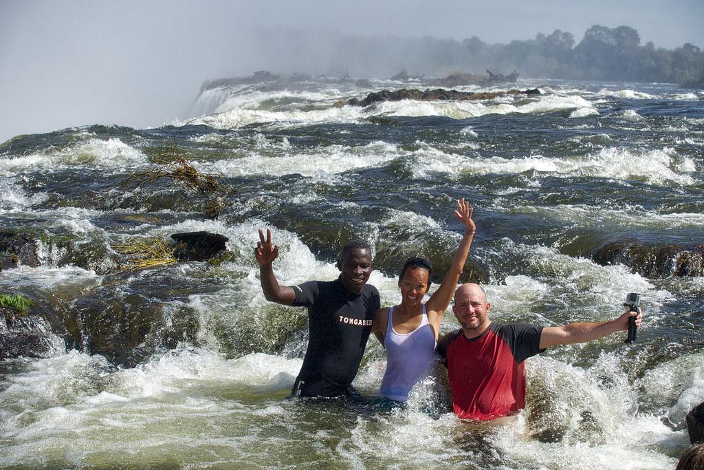 Victoria Falls Zambia or Zimbabwe.