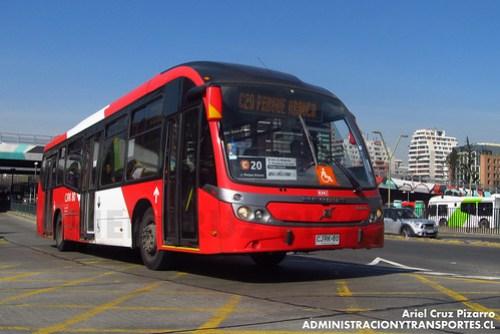 Transantiago - Redbus Urbano - Neobus Mega BRT / Volvo (CJRK80)