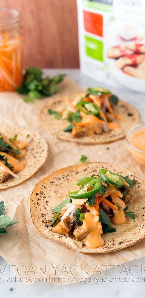 Vegan Spicy Teriyaki Chick'n Tacos