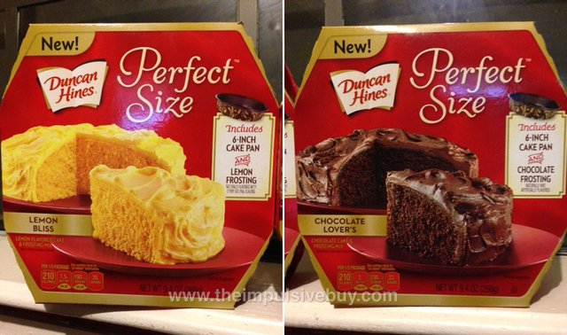 Duncan Hines Perfect Size (Lemon Bliss and Chocolate Lover's)