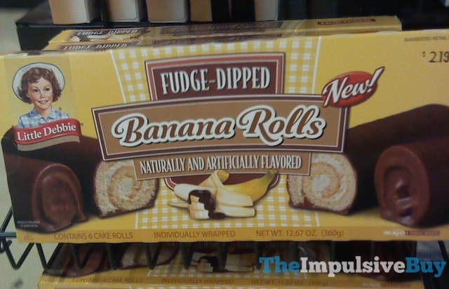 Little Debbie Fudge-Dipped Banana Rolls