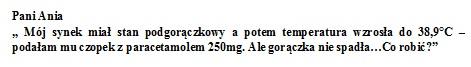 po paracetamolu gorączka nie spada