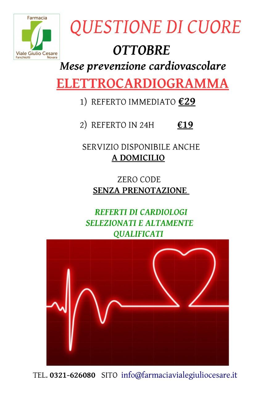 Elettrocardiogramma alla farmacia di Viale Giulio Cesare Novara