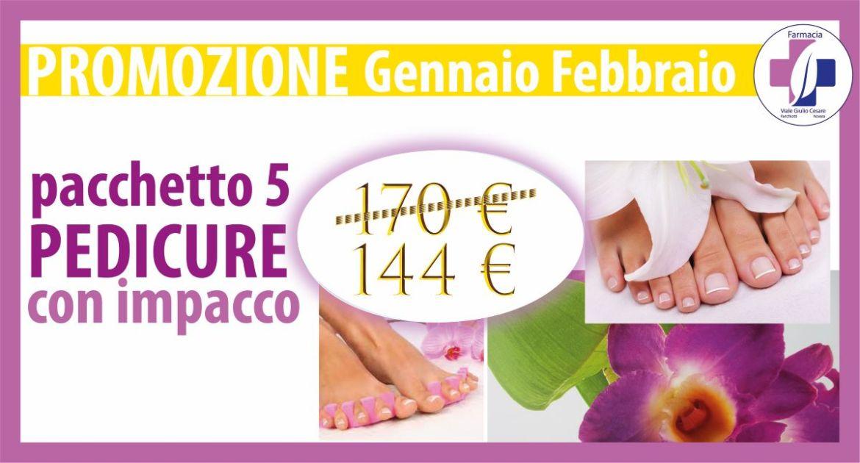 Promozione pacchetto 5 pedicure scontate al centro estetico Farmacia Viale Giulio Cesare novara