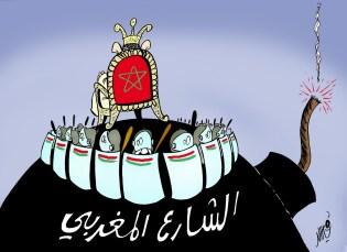 Caricatura del rey de Marruecos por Khalid Gueddar.