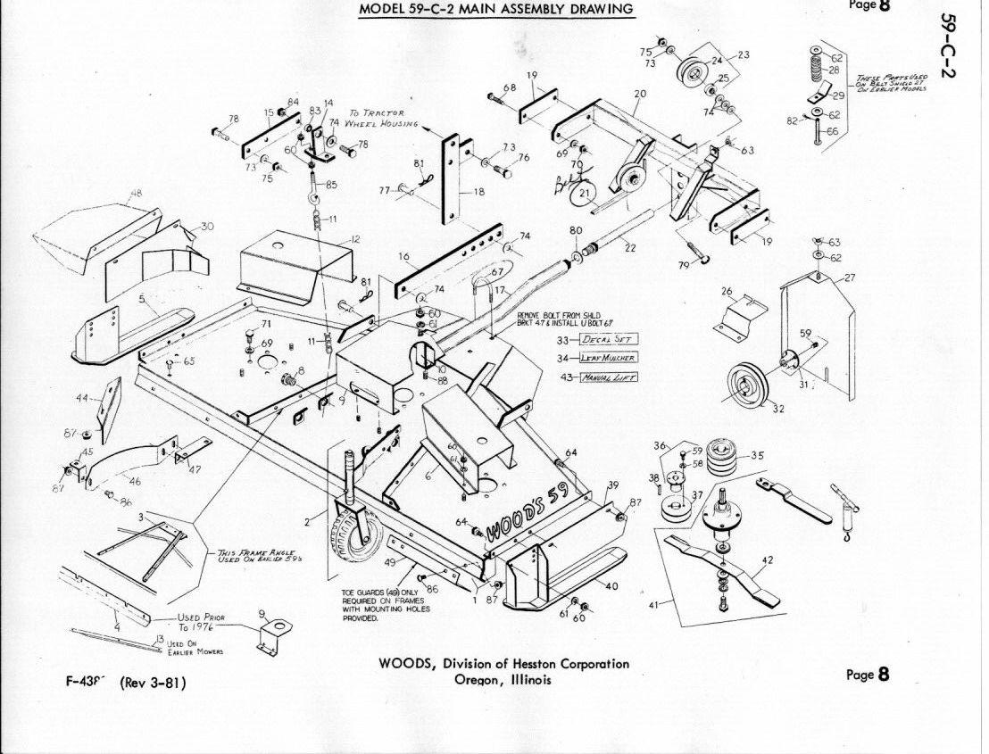 Woods Bush Hog Parts Diagram
