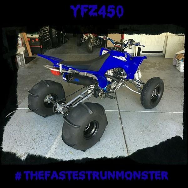monster exhaust yfz450 single