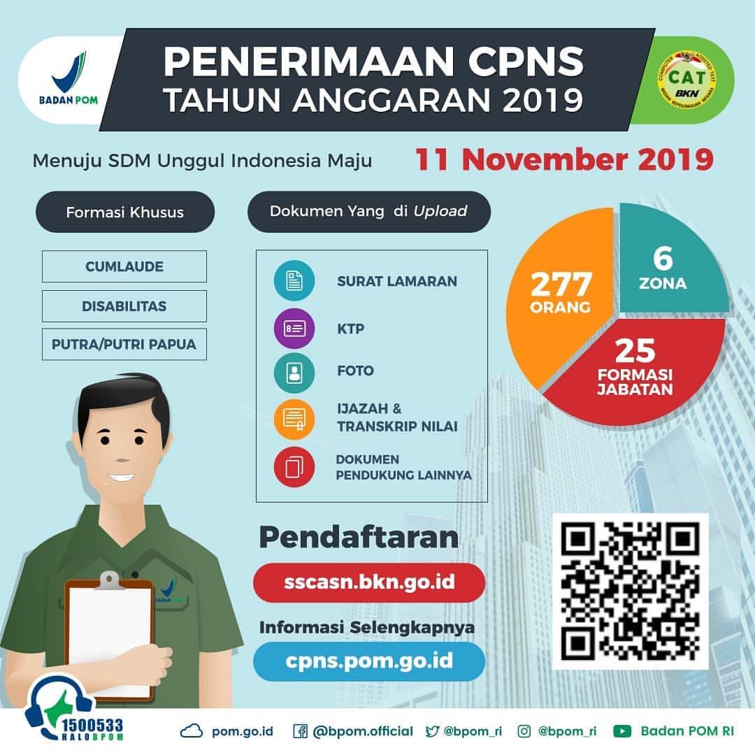 BPOM Buka 277 Formasi CPNS 2019, Tidak Ada Apoteker Hanya 8 Orang S1 Farmasi