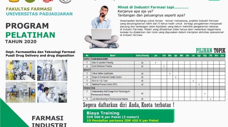 Dibuka Pendaftaran Professional Coaching Farmasi Industri Seri Manajemen Kualitas