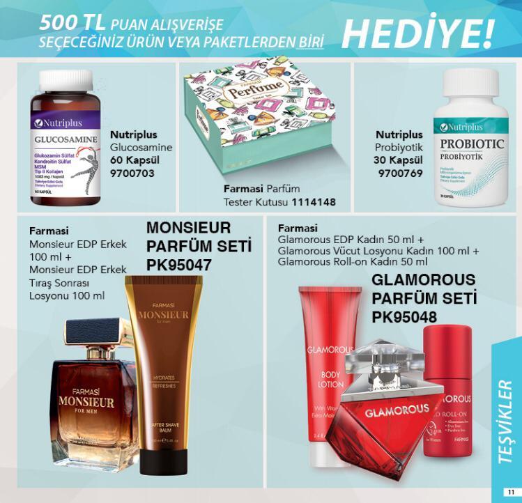 500 tl alışverişe farmasi kasım kampanyası