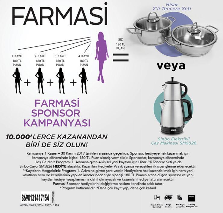 farmasi kasım ayına özel sponsor kampanyası