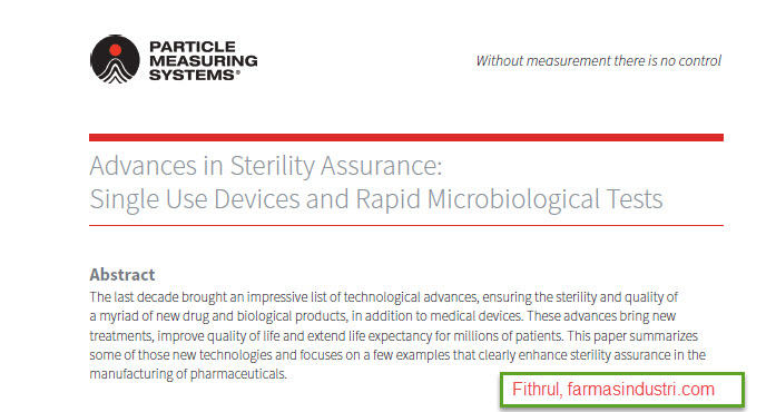 Download Artikel : Advances in Sterility Assurance: Single Use Devices and Rapid Microbiological Tests