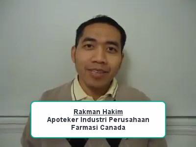 Sharing Pengalaman Apoteker yang bekerja di Industri Farmasi Canada