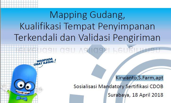 Pemetaan (mapping) Suhu Gudang Produk Jadi Farmasi bagian 2