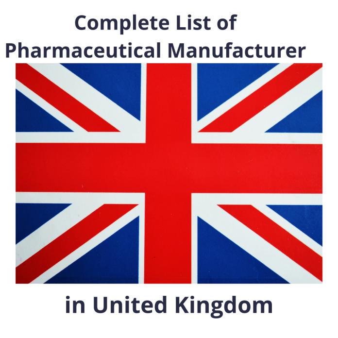 List of Pharmaceutical Manufacturer in UK