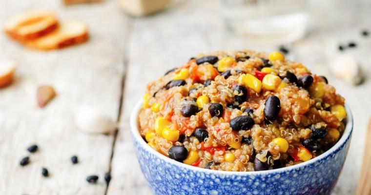 Vegan Black Bean, Quinoa, and Corn Chili