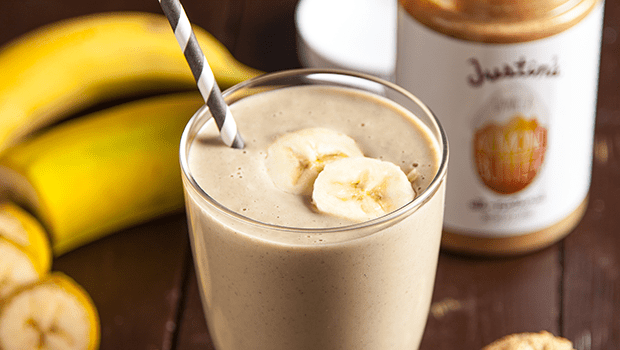 5 Minute Almond Butter Banana Smoothie