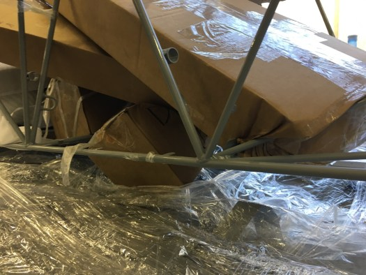 More pics of damaged boxes in the fuselage