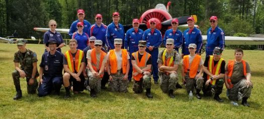 CAP personnel with the Bandit Flight Team