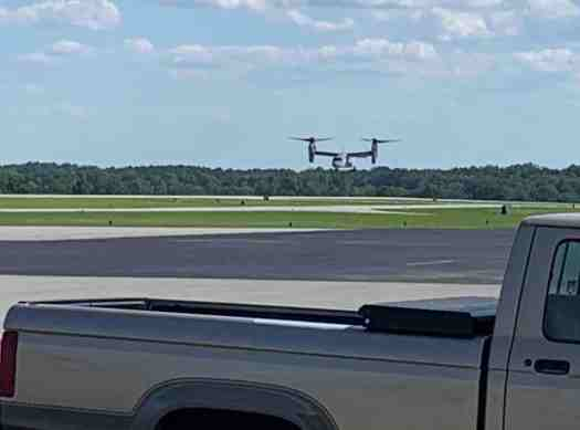 V-22 Osprey practicing at HRJ