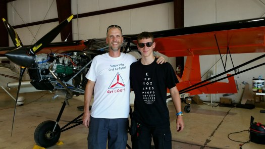 Carter and I after the inspection on N41RW