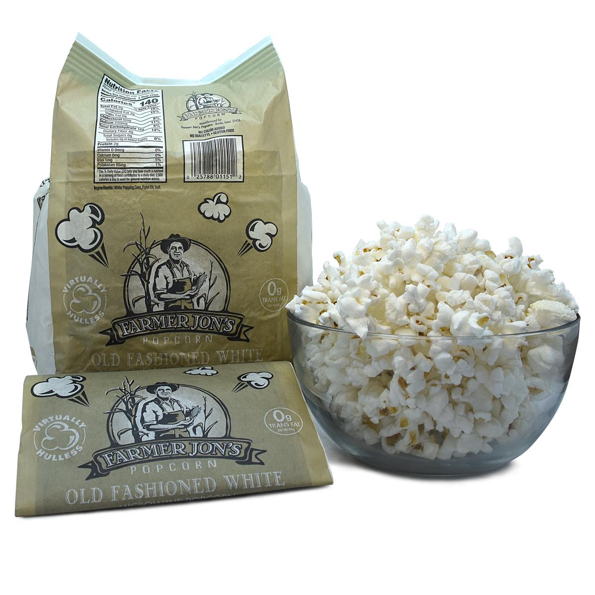 microwave popcorn 20pk with 6 caramel jars