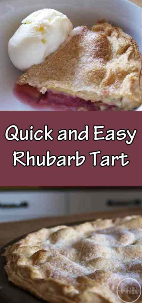quick and easy rhubarb tart recipe, ideal when you don't have time