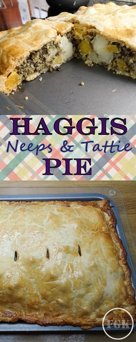 Feed a crowd with this Haggis, Neeps and Tattie Pie a variation on the traditional Burns Nigh favourite #haggis #pie