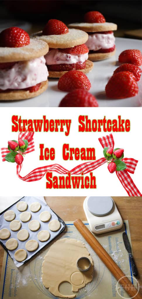A delicious Strawberry Shortcake Ice Cream Sandwich, a taste of summer