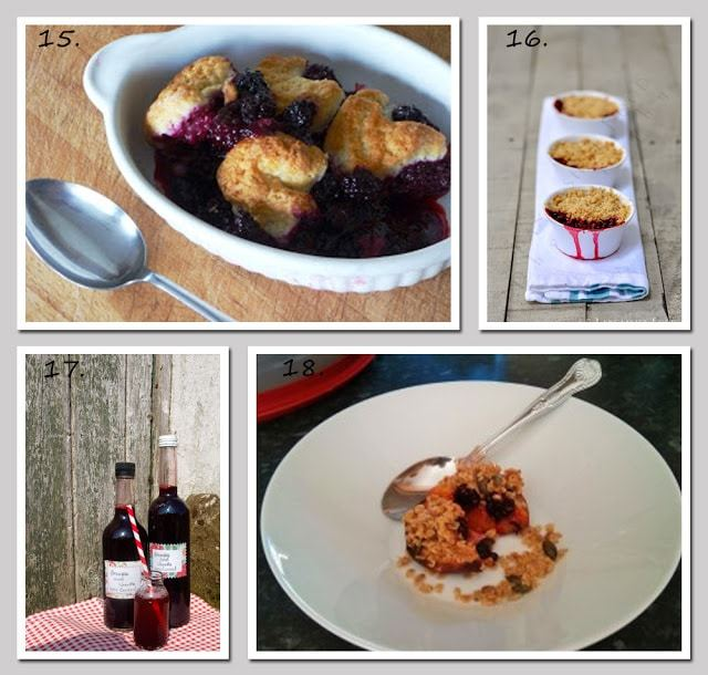 Blackberry recipes from the Great British Blackberry Recipe Round Up at Farmersgirl Kitchen
