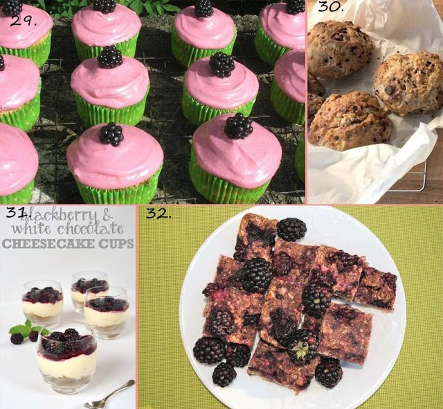 Cupcakes, flapjacks, scones and cheesecake for The Great British Blackberry Recipe Round Up