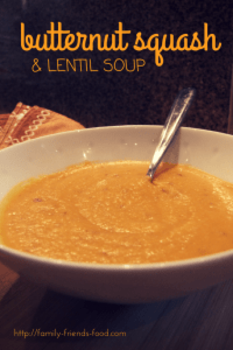 Butternut Squash and Lentil Soup