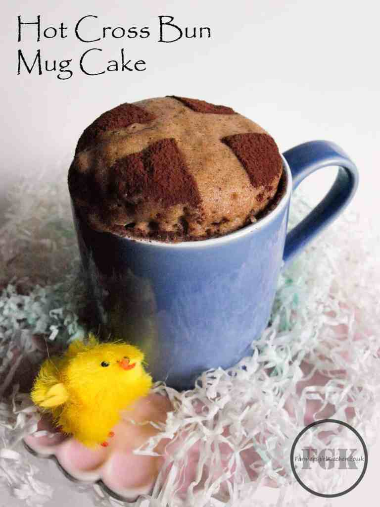 Hot Cross Bun Microwave Mug Cake