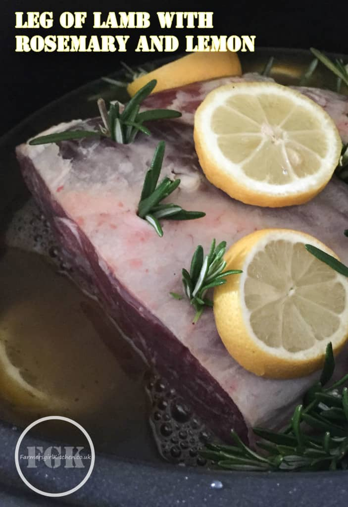 Lamb with garlic, rosemary and lemon