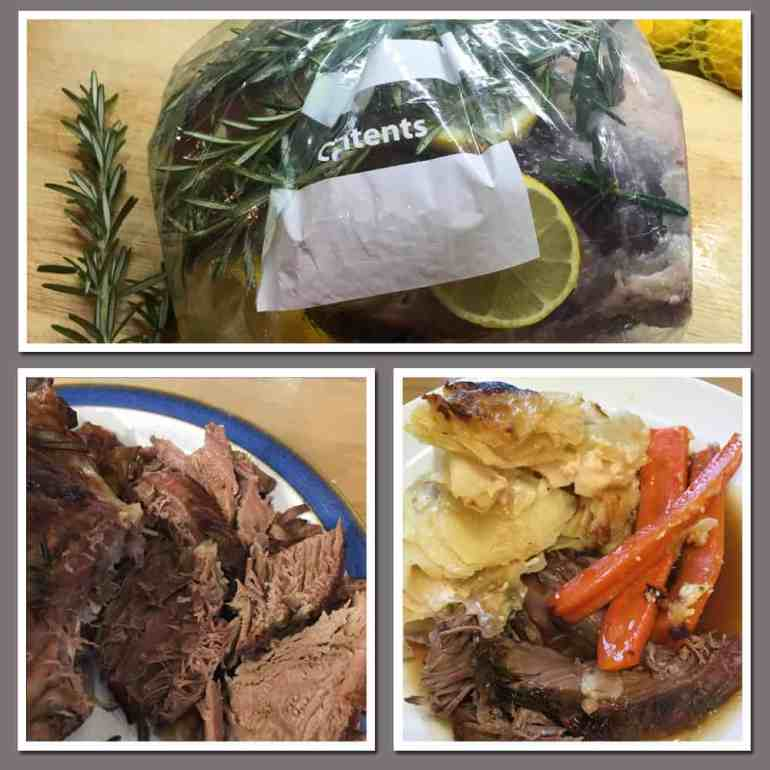 Crockpot lamb with garlic rosemary and lemon