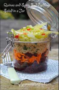 Quinoa and spicy red cabbage salad