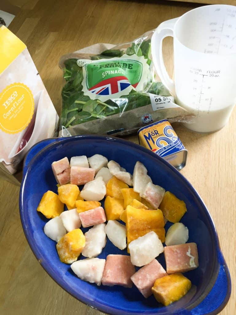 EAsy ingredients to make low cal fish pie