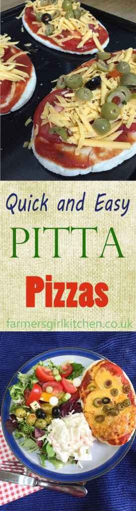 Quick and Easy Pitta Pizzas, for those nights when you are short of time