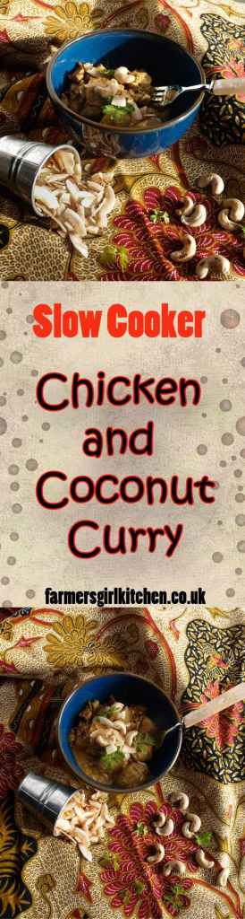 Slow cooker coconut, chicken curry