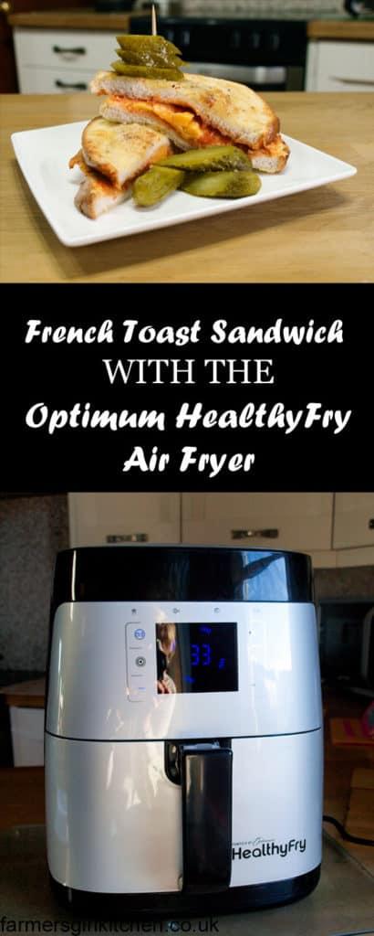 Make a French Toast Sandwich with no extra fat in the Optimum HealthyFry Air Fryer
